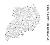 map of uganda from polygonal... | Shutterstock . vector #669567556
