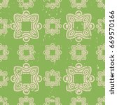 abstract vintage ornamental... | Shutterstock .eps vector #669570166