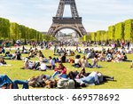 paris  france   may 5  2016 ... | Shutterstock . vector #669578692
