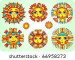 sun set | Shutterstock .eps vector #66958273