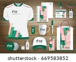 gift items business corporate... | Shutterstock .eps vector #669583852