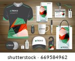 gift items business corporate... | Shutterstock .eps vector #669584962