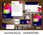 vector abstract stationery... | Shutterstock .eps vector #669600586
