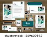 vector abstract stationery... | Shutterstock .eps vector #669600592