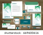 vector abstract stationery... | Shutterstock .eps vector #669600616