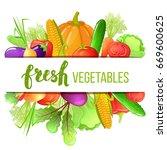 colorful cartoon set of... | Shutterstock . vector #669600625