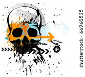 skull grunge background | Shutterstock .eps vector #66960535