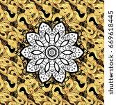 golden ornate illustration for... | Shutterstock .eps vector #669618445
