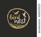 bird nest vector logo design. | Shutterstock .eps vector #669625015