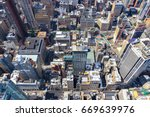 Aerial View Of Traffic And...