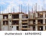 building that is being built ... | Shutterstock . vector #669648442
