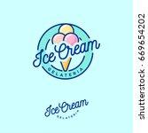 logo ice cream. italian ice... | Shutterstock .eps vector #669654202