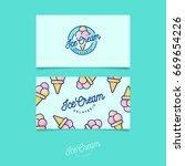 green logo ice cream. italian... | Shutterstock .eps vector #669654226