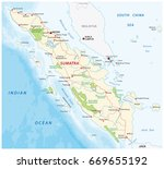 road map of the indonesian... | Shutterstock .eps vector #669655192