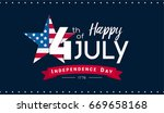 happy 4th of july banner vector ... | Shutterstock .eps vector #669658168