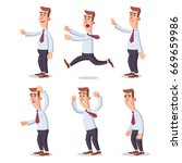 worker poses pack two | Shutterstock .eps vector #669659986