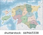 map of estonia | Shutterstock .eps vector #669665338