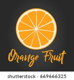 orange logo vector illustration | Shutterstock .eps vector #669666325