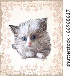 Vintage Greeting Card With ...