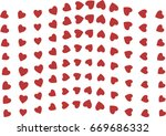 abstract colored heart or love... | Shutterstock .eps vector #669686332
