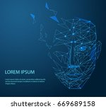 lines connected to thinkers ... | Shutterstock .eps vector #669689158
