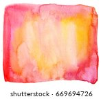a pink and yellow abstract... | Shutterstock . vector #669694726