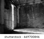 black and white abandoned... | Shutterstock . vector #669700846