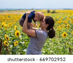 woman and baby girl in the...   Shutterstock . vector #669702952