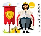 vector king. flat style... | Shutterstock .eps vector #669708022