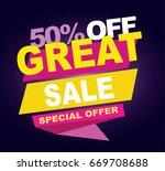 great sale banner. vector... | Shutterstock .eps vector #669708688