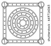 round ornament pattern mandala... | Shutterstock . vector #669716065