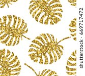 tropical seamless pattern with... | Shutterstock .eps vector #669717472