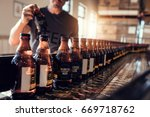 Conveyor With Beer Bottles...