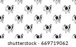 french bulldog dog vector... | Shutterstock .eps vector #669719062