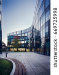 modern architecture of the... | Shutterstock . vector #669725998