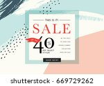 sale banner template design....
