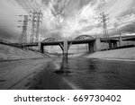 the los angeles river and... | Shutterstock . vector #669730402