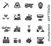 mining industry. monochrome... | Shutterstock .eps vector #669730606