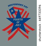 fourth of july vector... | Shutterstock .eps vector #669733396