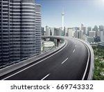 highway overpass motion blur...   Shutterstock . vector #669743332