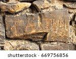 Old Wall Stone Brick And Morta...