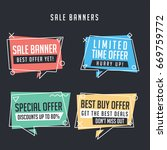 collection of sale banners in... | Shutterstock .eps vector #669759772