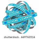 machine learning process loops... | Shutterstock . vector #669763516