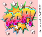 a zap comic book illustration | Shutterstock .eps vector #66977377