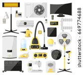 set of household appliances for ... | Shutterstock .eps vector #669774688