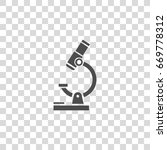 microscope vector icon | Shutterstock .eps vector #669778312