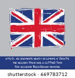 united kingdom flat flag  ... | Shutterstock .eps vector #669783712