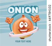 onion vector character...