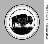 hunter sniper scope crosshair... | Shutterstock .eps vector #669786562