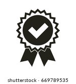 vector medal icon. flat style. | Shutterstock .eps vector #669789535